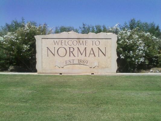 Welcome to Norman sign.