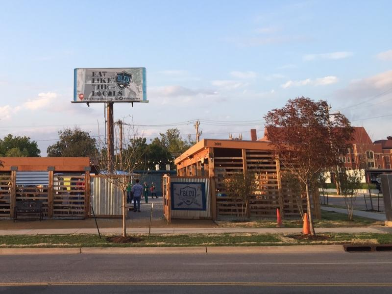 The recently opened Bleu Garten food truck park along NW 10th Street in Oklahoma City