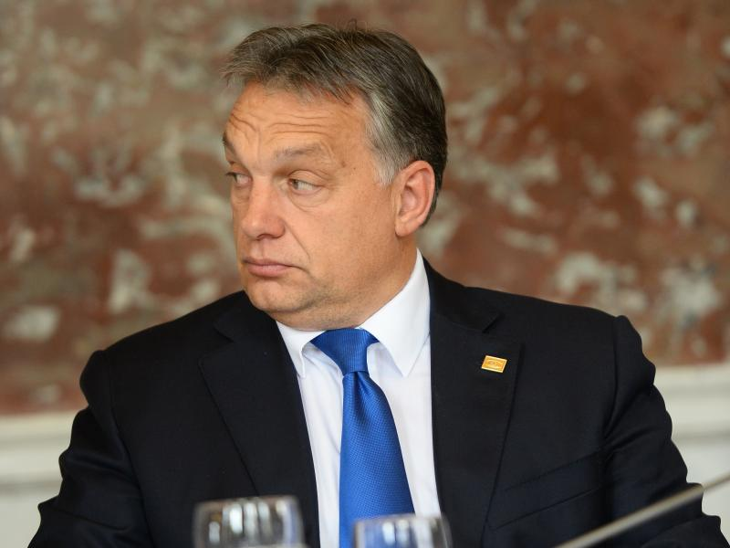 Hungary's prime minister Viktor Orban at a European People's Party summit in Brussels, October 2014