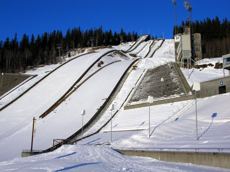 The ski jump in Lillehammer, Norway, the site of the 1994 Olympic Winter Games.