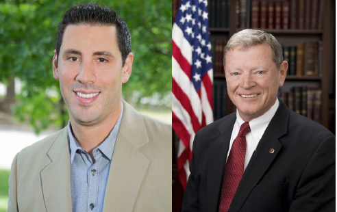 Democratic Challenger Matt Silverstein and Republican Senator Jim Inhofe.