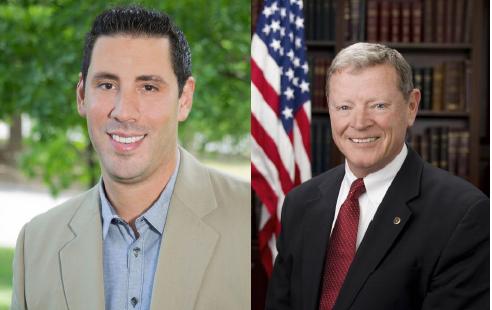 Democratic Challenger Matt Silverstein and Republican Senator Jim Inhofe.