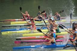 Kayakers on the Oklahoma River.