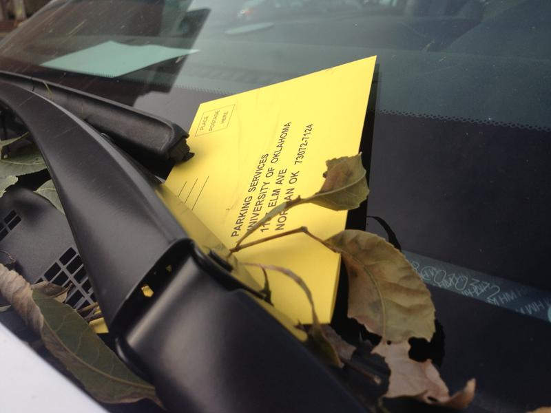 University of Oklahoma parking ticket