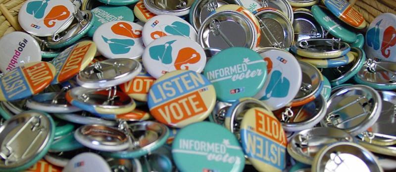 election lapel buttons