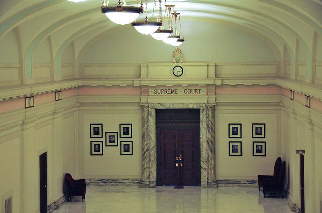 Courtroom entrance.
