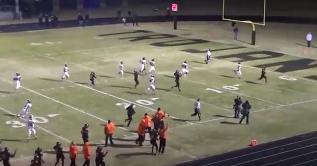 A screen capture from the Nov. 28 Douglass-Locust Grove high school football playoff game that ended in controversy.