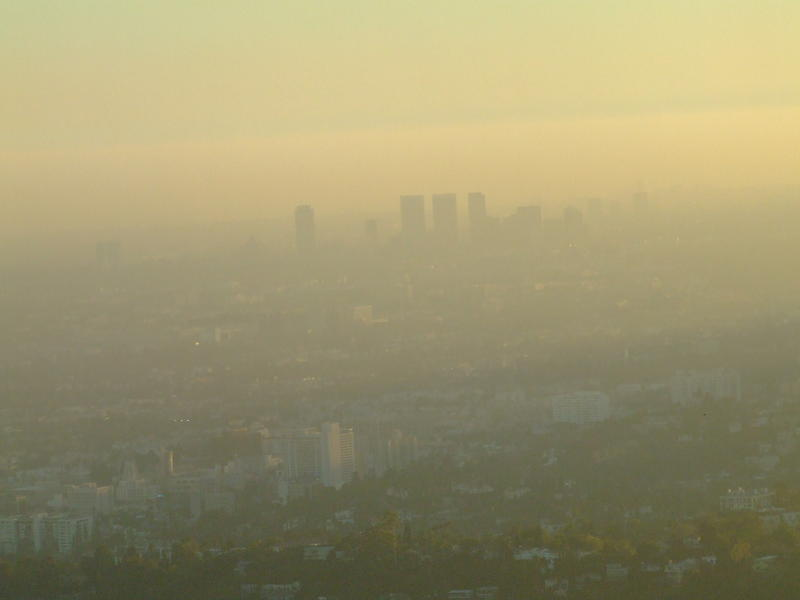 Ozone is a major contributor to smog, seen here blanketing Los Angeles.