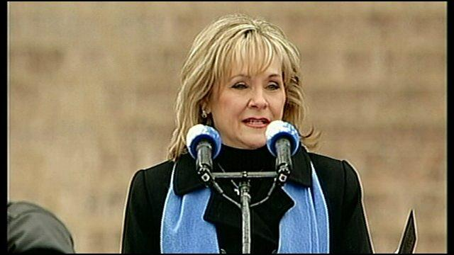 Governor Mary Fallin at her swearing in ceremony in January 2011.
