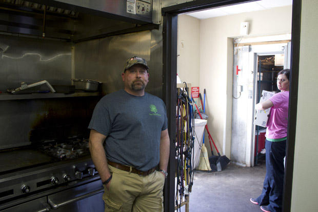 Chad Igo owns Pecan Creek Catering in New Cordell, Okla., which delievers food to workers in the oil patch.