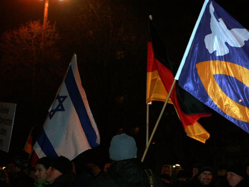 Protesters in Germany, January 19, 2015