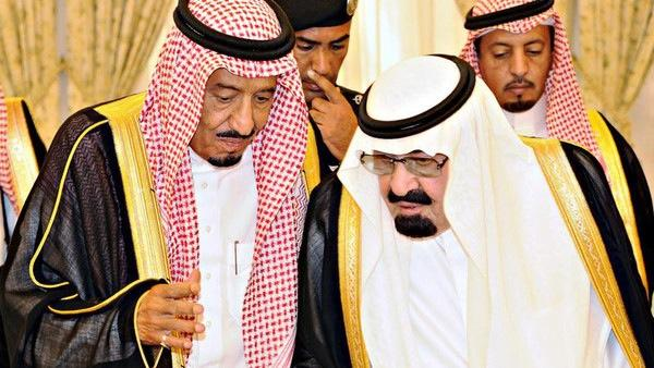 Saudi King Abdullah talks with newly appointed Saudi Crown Prince Salman bin Abdel-Aziz in Taif June 19, 2012. Saudi Arabia's King Abdullah has appointed his defence minister, Prince Salman, as heir apparent, opting for stability and a continuation of cau