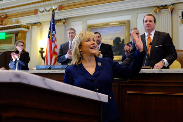 Gov. Mary Fallin during her 2015 State of the State address Feb. 2, 2015.