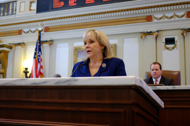 Gov. Mary Fallin delivers her 2015 State of the State address on Feb. 2, 2015.
