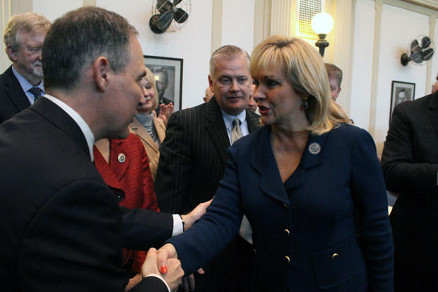 Gov. Mary Fallin at her 2015 State of the State speech before the Oklahoma legislature.