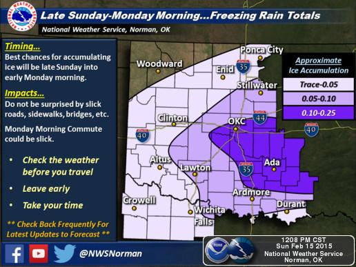 Feb 15-16 2015 forecast