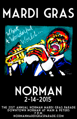 2015 Norman Mardi Gras Parade Poster