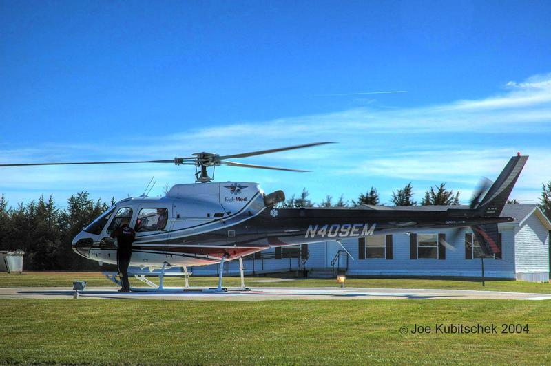 Stock Photo Of An EagleMed Medical Helicopter