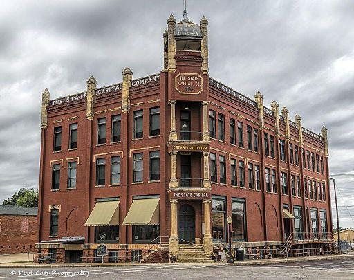 Old Oklahoma Daily State Capitol Newspaper Building. Guthrie, Oklahoma.