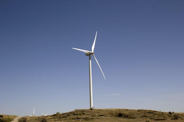 The Blue Canyon wind farm near Carnegie, Okla.