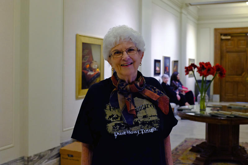 "Dust Bowl survivor Pauline Hodges traveled to the Oklahoma Capitol to speak at an event commemorating the 80th anniversary of the ""Black Sunday"" dust storm."
