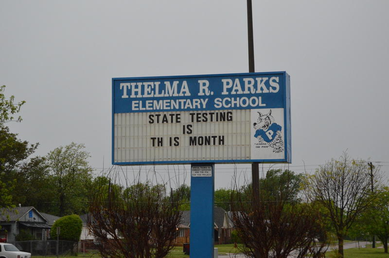Thelma R. Parks Elementary School in Northeast Oklahoma City, which had the highest overall suspension rate in Oklahoma City at 42.1 percent.