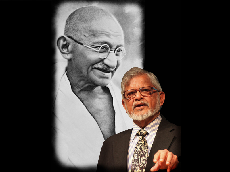 Arun Gandhi, grandson of Indian civil rights leader Mahatma Gandhi