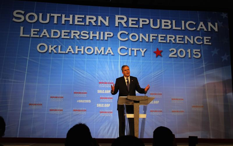 Former Florida Gov. Jeb Bush speaks at the Southern Republican Leadership Conference in Oklahoma City