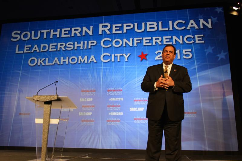 New Jersey Gov. Chris Christie speaks at the Southern Republican Leadership Conference