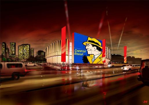 A rendering of the pop culture museum in Tulsa.