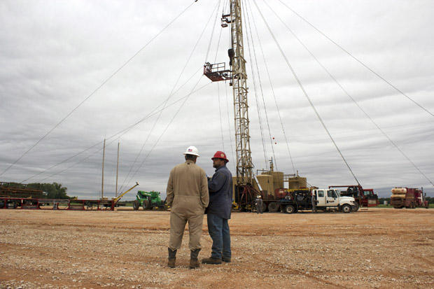 An Eagle Energy Exploration disposal well site in May 2015, where workers plugged-back an Arbuckle disposal well regulators said was drilled too deep.