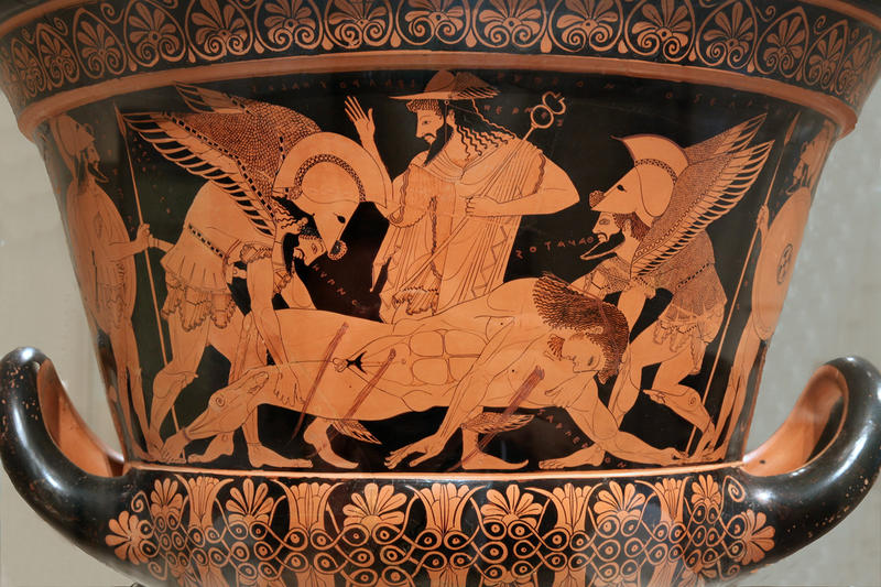The Euphronios krater, repatriated to Italy by the Metropolitan Museum of Art in New York City in 2006.