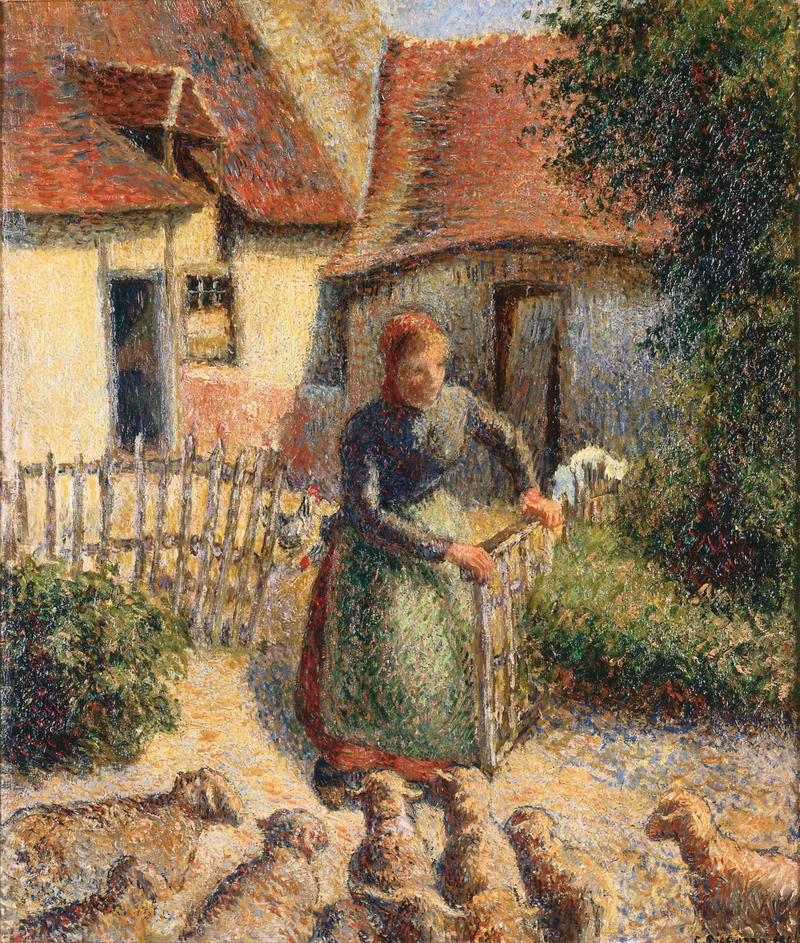 Bergère rentrant des moutons (Shepherdess Bringing in Sheep), 1886 Oil on canvas, 18 1/4 x 15 in.