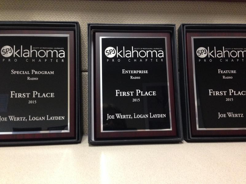 First Place Awards for StateImpact Oklahoma from the Oklahoma Chapter of the Society for Professional Jouranlists 2015