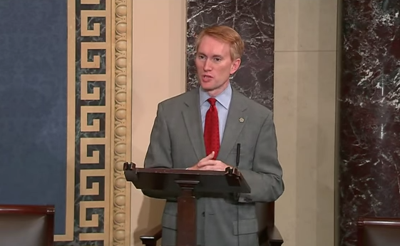 U.S. Sen. James Lankford (R-Okla.) speaking about the upcoming King vs. Burwell Supreme Court decision Monday on the floor of the U.S. Senate.