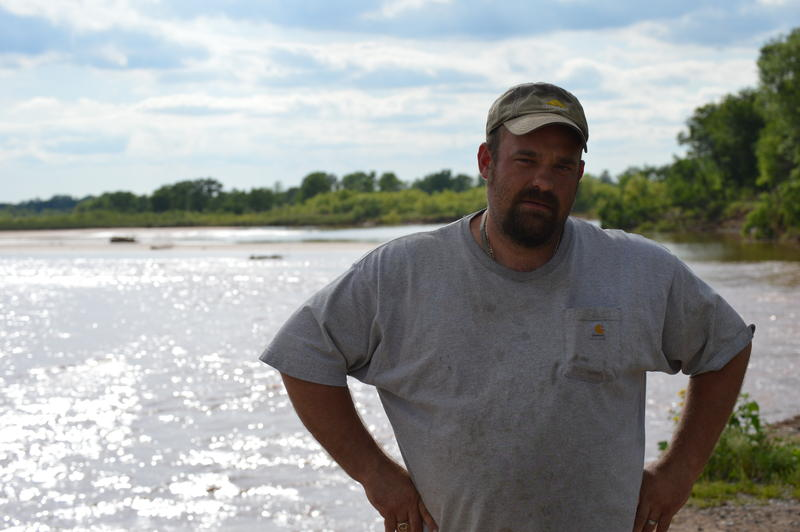 Despite flooding and erosion on the South Canadian River, Toby Bogart hopes to rebuild his farm on the outskirts of Oklahoma City.