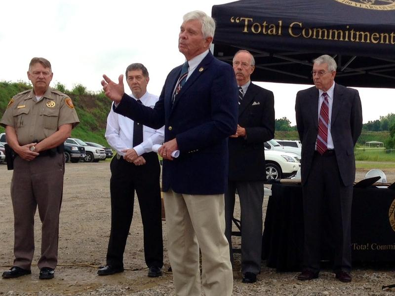 Tulsa County Sheriff Stanley Glanz at the 2014 groundbreaking of a new law enforcement training center.