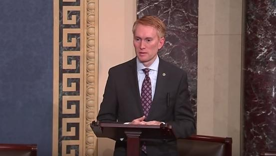 U.S. Sen. James Lankford speaking on the Senate floor July 16 about ending taxpayer funding for Planned Parenthood in light of a recent undercover video.
