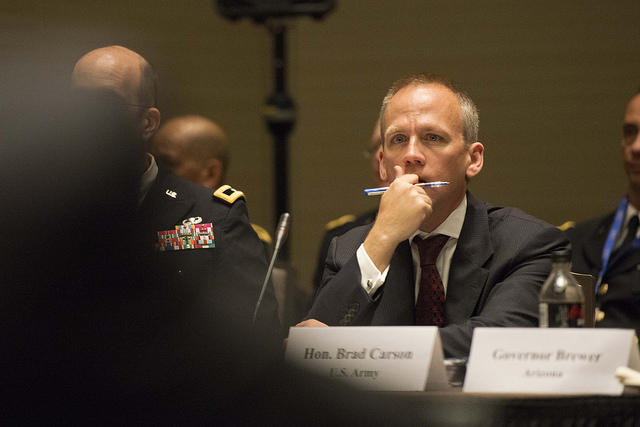 Under Secretary of the Army Brad Carson in 2014.