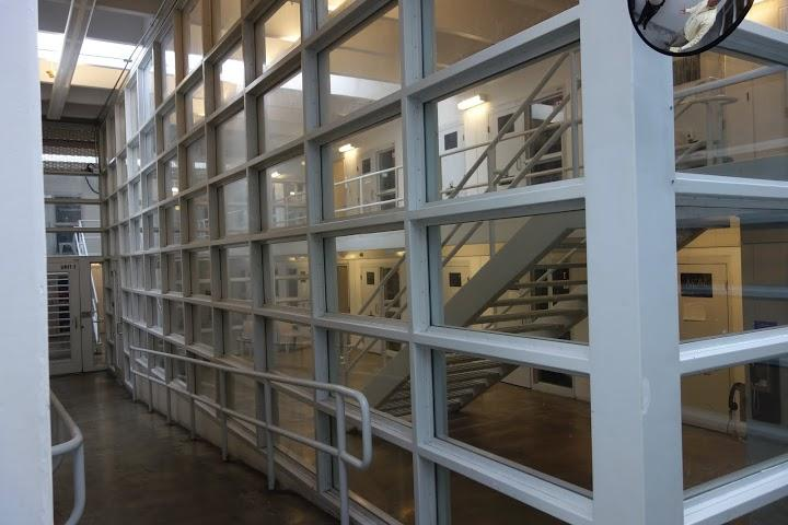 The Tulsa County jail isolation unit.