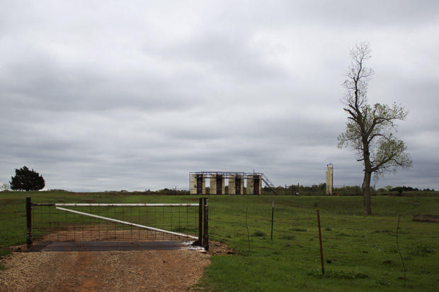 An oil and gas operation in Logan County, Okla., in 2015.