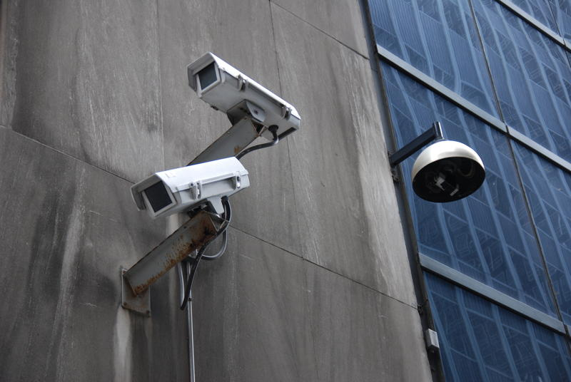 Surveillance in New York City's financial district.