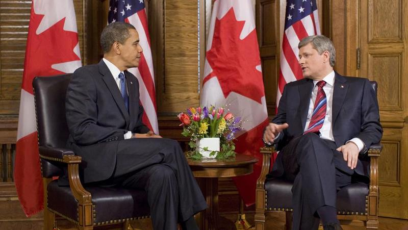 United States President Barack Obama meets with Stephen Harper in Ottawa.