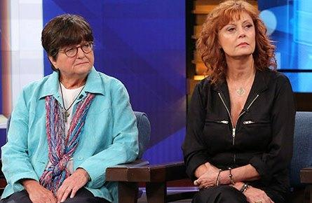 "Sister Helen Prejean and actress Susan Sarandon appearing on the August 31 episode of ""The Dr. Phil Show."""