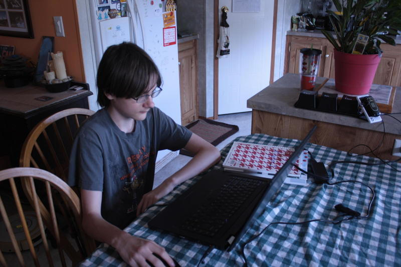 Toby Carter, 14, goes to school from home. This is his first year at the Oklahoma Virtual Charter Academy.