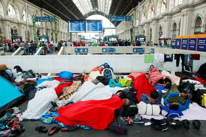 The train station in Budapest, Hungary on September 4, 2015.