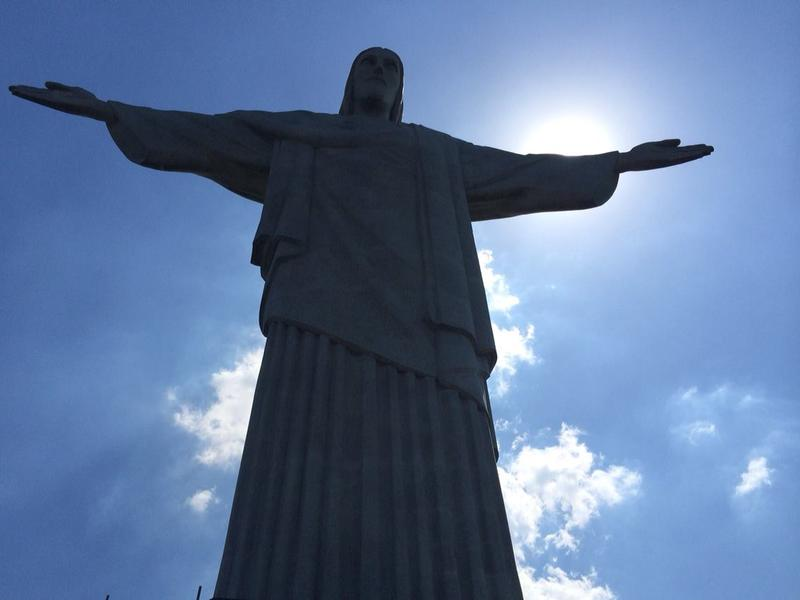 Christ the Redeemer statue in Rio de Janeiro, Brazil.