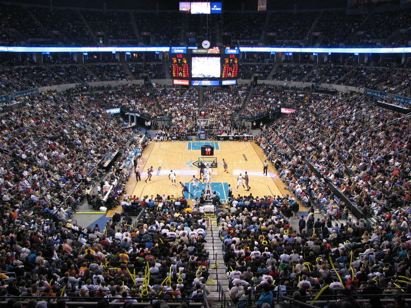 The New Orleans/Oklahoma City Hornets take on the Phoenix Suns on April 6, 2007 during the team's second and final season in Oklahoma City.