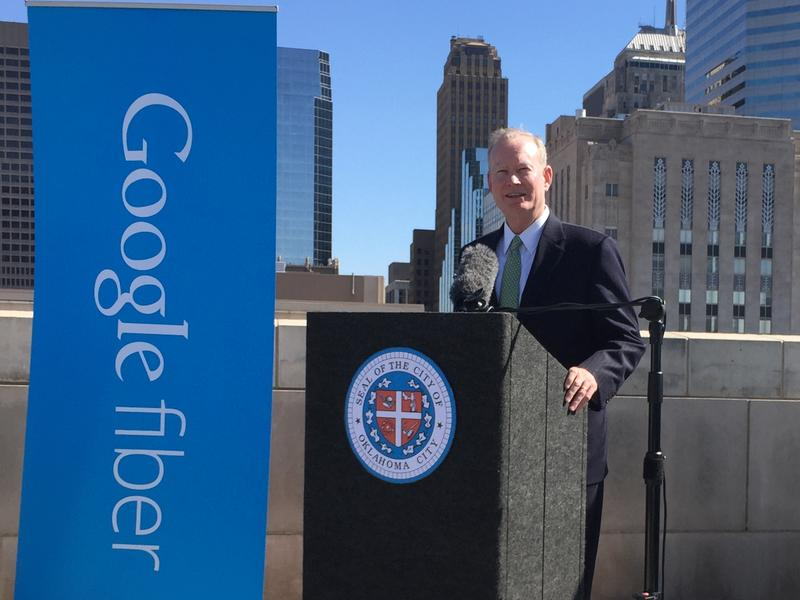 Mayor Mick Cornett announces Oklahoma City is in talks to bring Google Fiber's high-speed internet service to the city.