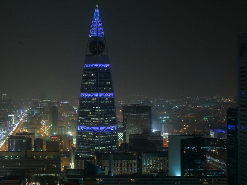 The Al-Faisaliah Tower in downtown Riyadh, Saudi Arabia.